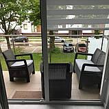 Набор садовой мебели Tarifa Set Graphite ( графит ) из искусственного ротанга ( Allibert by Keter ), фото 6