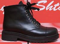 Ботинки кожаные на низком каблуке от производителя модель СТБ42, фото 1