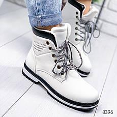 """Ботинки женские демисезонные """"Back"""" белого цвета из эко кожи. Ботильоны женские. Ботильоны деми, фото 3"""