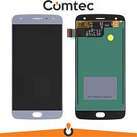 Дисплей для Motorola XT1900-7 Moto X4 с тачскрином (Модуль) синий