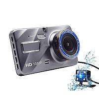 Видеорегистратор с выносной камерой заднего вида Dvr 1080 Full HD
