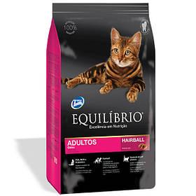 Сухой корм для кошек Эквилибрио Equilibrio Cat Adult Hairball для выведения шерсти 15 кг