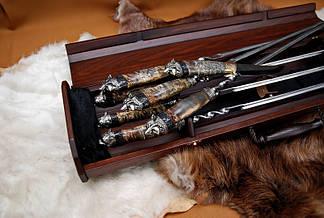 """Эксклюзивный подарочный набор для мужчины """"Хищница"""" в футляре из морёного вяза. Статусный подарок бизнесмену., фото 2"""