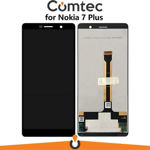 Дисплей для Nokia 7 Plus Dual Sim TA-1046/7 Plus TA-1055 с тачскрином (Модуль) черный