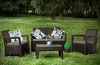 Набор садовой мебели Tarifa Set Brown ( коричневый ) из искусственного ротанга, фото 1