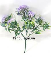 """Искусственный куст """"багульник"""" 30см,цвет зеленый с фиолетовым, фото 1"""