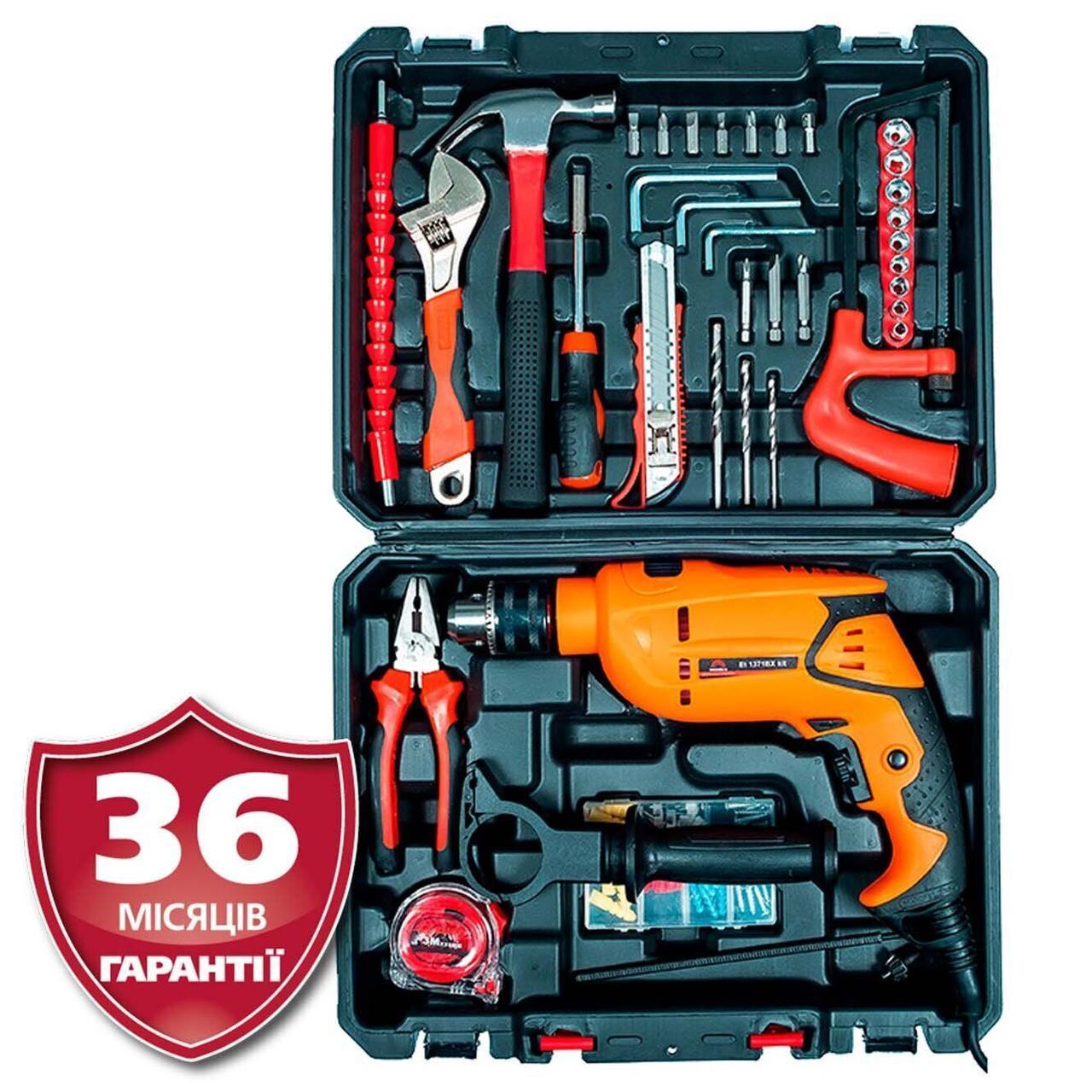 Дрель ударная Vitals Et 1371BX kit