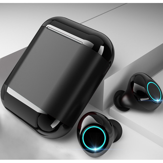 Навушники S7 Tws Bluetooth 5.0 бездротові зарядні чохлом-футляром Чорний