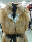 Пошив мехового жилета из лисы, норки, натуральной кожи и замша., фото 3