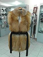 Пошив мехового жилета из лисы, норки, натуральной кожи и замша.