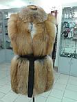 Пошив мехового жилета из лисы, норки, натуральной кожи и замша., фото 4