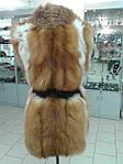 Пошив мехового жилета из лисы, норки, натуральной кожи и замша., фото 6