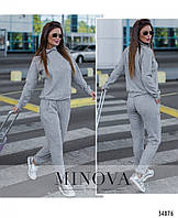 Спортивный костюм женский демисезонный ангора 42-46 размеров,цвет серый