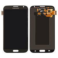 Дисплей Samsung I317, N7100 Note 2, N7105 Note 2, T889, серый, с сенсорным экраном, оригинал