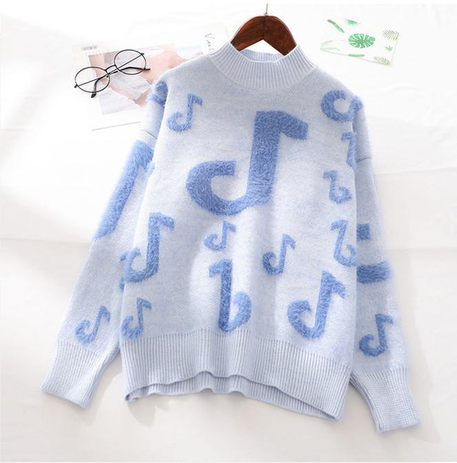 Нежный женский свитер с нотами 42-46 (в расцветках)