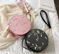 Модна жіноча сумочка з квіточками, фото 1