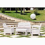 Набір садових меблів Tarifa Set White ( білий ) з штучного ротанга ( Allibert by Keter ), фото 3