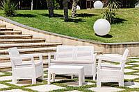 Набор садовой мебели Tarifa Set White ( белый ) из искусственного ротанга, фото 1