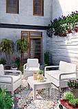 Набір садових меблів Tarifa Set White ( білий ) з штучного ротанга ( Allibert by Keter ), фото 10