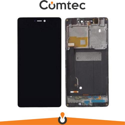 Дисплей для Xiaomi Mi4c с тачскрином (Модуль) черный, с передней панелью (рамкой)