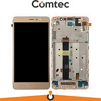 Дисплей для Xiaomi Redmi 3/3 Pro/Redmi 3s/3s Prime/Redmi 3x с тачскрином (Модуль) золотистый, с передней панелью (рамкой)