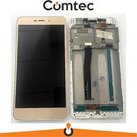 Дисплей для Xiaomi Redmi 4A с тачскрином (Модуль) золотистый, с передней панелью (рамкой)