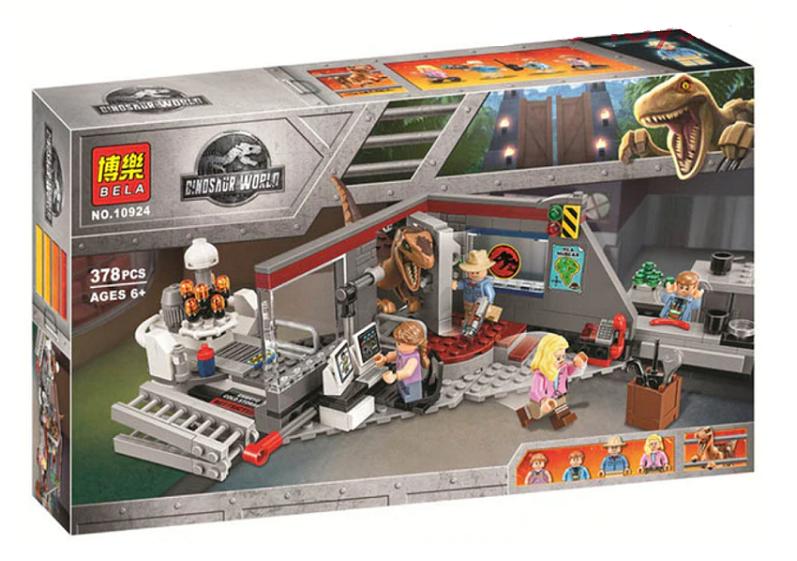 Конструктор Bela 10924 Охота на рапторов в Парке Юрского Периода (Аналог LEGO Jurassic World 75932) 378 дет