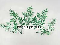 Искусственные  узорчатые-2 листья,цвет зеленый с белым (1 набор -5шт) L-10см, фото 1