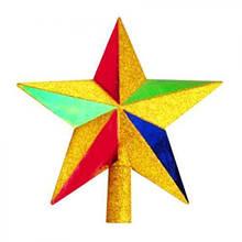 Верхушка на елку звезда 20см 1шт/уп (СКЛАД-1 шт)