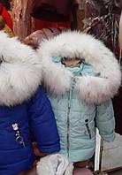Зимняя курточка для девочки маленькие размеры 98 104 110 116