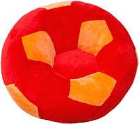 """Детское Кресло """"Мяч"""" от ТМ""""Золушка"""" (60см) маленькое, красно-оранжевое"""