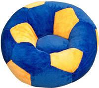 """Детское Кресло """"Мяч"""" от ТМ""""Золушка"""" (60см) маленькое, сине-желтое"""