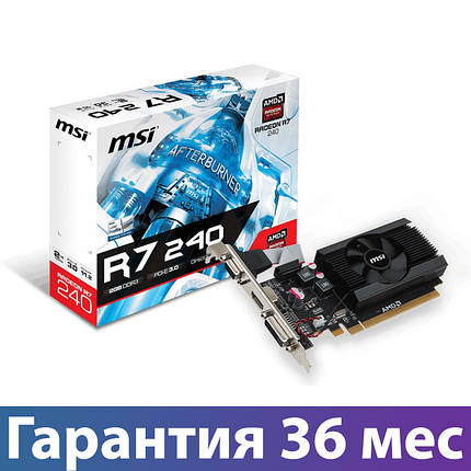 Видеокарта Radeon R7 240, MSI, 2 Гб DDR3, 64-bit (R7 240 2GD3 64b LP), низкопрофильная, відеокарта, фото 2