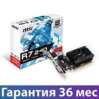 Видеокарта Radeon R7 240, MSI, 2 Гб DDR3, 64-bit (R7 240 2GD3 64b LP), низкопрофильная, відеокарта