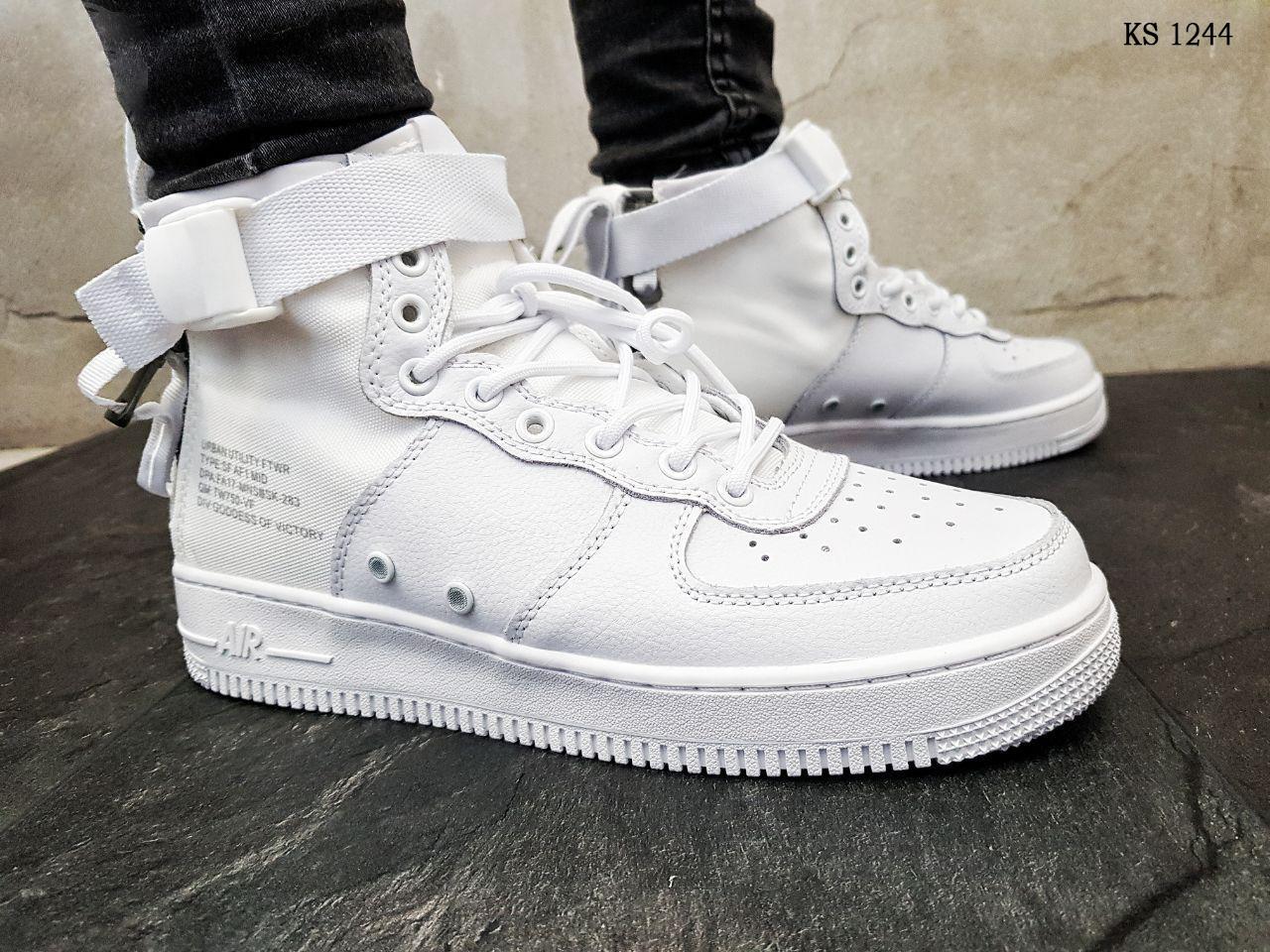 Мужские кроссовки Nike SF Air Force 1 Mid (белые)