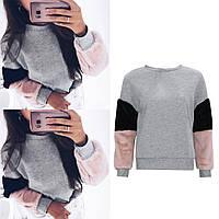 Теплая кофта свитер свитшот толстовка худи на меху Тедди, фото 1