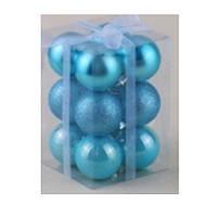 Набор елочных шариков 5см 12шт в коробке