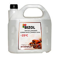 Зимний омыватель, аромат Цейлонской Корицы BIZOL WINTER SCREEN WASH -25C, 4Л