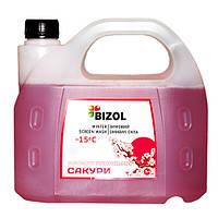 Зимний омыватель, аромат Японская Сакура BIZOL WINTER SCREEN WASH -15C, 3Л