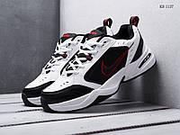 Мужские кроссовки Nike Air Monarch IV, кожа, сетка, пена, белые с черным 44 (28 см)