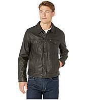 Куртка Levi's Laydown Collar Classic Trucker Fly Front Snap Placket Chambray Lining Brown - Оригинал