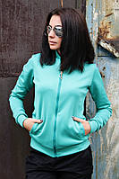 Бомбер жіночий однотонний (5 кольорів), жіночий одяг від виробника, недорого, дропшиппинг постачальник