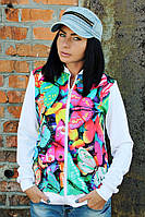 Бомбер жіночий принт Метелики, жіночий одяг від виробника, недорого, дропшиппинг постачальник