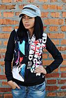 Бомбер принт Літери, жіночий одяг від виробника, недорого, дропшиппинг постачальник