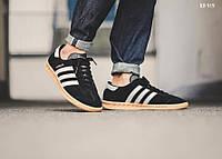 Мужские кроссовки в стиле Adidas Hamburg, черные 42 (26,5 см)