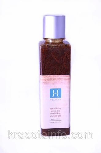 Полирующий гель-скраб для тела Зелёный чай ( Detoxifying Green Tea Scrubbing Shower Gel ) 250 мл Vedaya