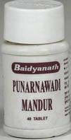 Пунарнава Мандур ( Punarnava Mandoor Dhootapapeshwar ), лечение печени, желчегонное, 40 таблеток