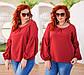 """Женская стильная блузка до больших размеров 15232 """"Софт Рукава Пуфы"""" в расцветках, фото 2"""