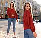 """Женская стильная блузка до больших размеров 15232 """"Софт Рукава Пуфы"""" в расцветках, фото 5"""