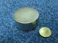 Неодимовый магнит   55 мм × 25 мм  100кг-110 кг  N 38 .
